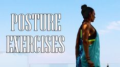 How to Get Better Posture - 9 Exercises For Good Posture Good Posture, Improve Posture, 5 Min Workout, Better Posture Exercises, Fitness Youtubers, Quick Workouts, How To Get Better, Posture Correction, Long Hours