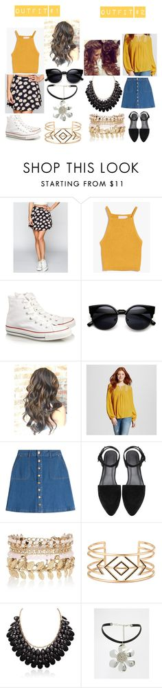 """#WhichOutfitWouldYouWear?"" by izzy-ccix on Polyvore featuring Blu Pepper, Converse, Mossimo Supply Co., HUGO, River Island, Stella & Dot, ASOS, women's clothing, women and female"