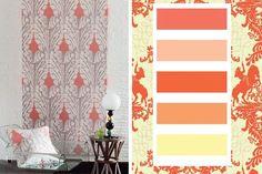 Le corail illumine nos murs pour cette palette déco de couleurs - 30 palettes de couleurs pour refaire votre déco - CôtéMaison.fr