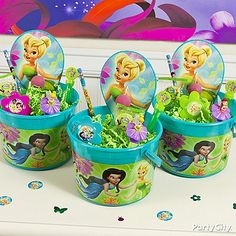 Your fairy's guests will float home happily with these Tinker Bell party favors and prizes.