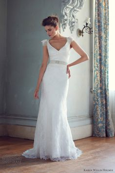 karen willis holmes 2013 wedding dresses rachel v neck