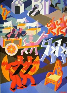 ... Art Deco Illustration, Italian Futurism, Futurism Art, Modernist Movement, Georges Braque, Unusual Art, Italian Artist, Typography Logo, Advertising Poster