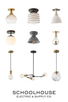 Modern, minimalist, vintage-inspired and iconic light fixtures hand-crafted in Portland, OR | Find your favorite at Schoolhouse Electric and shop our new Spring 2016 collection