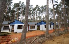 Lodge clusters at Woburn Forest are built in stages
