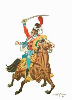 HÚSARES DE TEXAS, VIRREINATO DE NUEVA ESPAÑA , 1803 Mexican Army, Trinidad Y Tobago, Bad Santa, Disco Fashion, Empire, Napoleonic Wars, Spanish, Conquistador, Military Uniforms