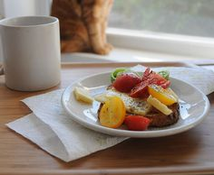 Enjoying a perfect breakfast by the window...