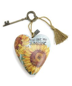 Look what I found on #zulily! 'You Are My Sunshine' Art Heart Decoration #zulilyfinds
