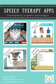 List of speech therapy apps developed by a speech pathologist