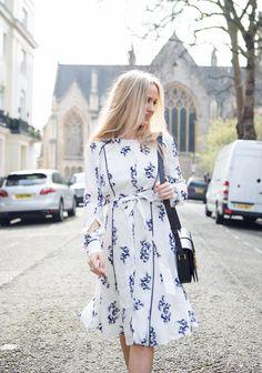 The perfect spring dress   Women's fashion   London fashion street style   Maternity fashion