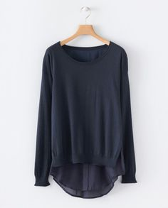 Silk and cashmere layered sweater