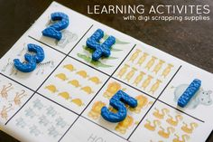 Learning Activities With Digi Scrapping Supplies