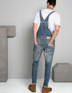 Peto denim lavado - Jeans - Bershka España