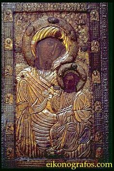 "Miraculous Icon of Christ and Panagia ""Portaitissa"" - Iviron Monastery, Mount Athos"