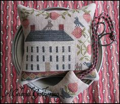 The Scarlett House's first kit for Dyeing to Stitch's Colonial Gathering Group.