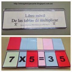 Súper PT: Libro Móvil de las Tablas de Multiplicar Math Games, Math Activities, Material Didático, Math Multiplication, Fractions, Math Humor, Tot School, Math For Kids, Educational Games