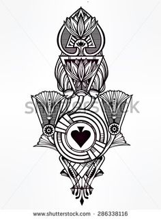 44 best ace sign tattoos images on pinterest spade tattoo ace of