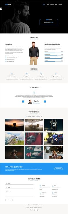 Rida vCard - Responsive HTML5 Portfolio\/Resume Template Resume - bootstrap resume template