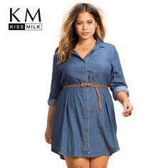 9beb250419 kissmilk Plus Size Fashion Women Dress Casual Loose Dress Long Sleeve Big  Size Female Clothing Large Size Lady Dress Price history. Product ID
