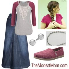 Take Me Out to the Ball Game - The Modest Mom fall fashion outfit