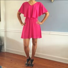 Hp Playful Magenta Dress