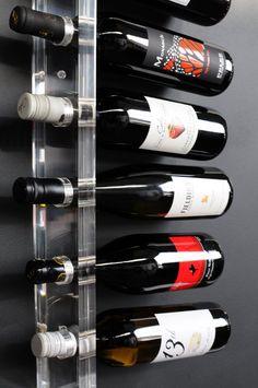 Acrylic 8 Bottle Wall Mounted Wine Rack Contemporary Wine Racks, Modern Wine Rack, Wine Rack Wall, Wine Glass Holder, Wine Shelves, Wine Storage, Wine Refrigerator, Wine Fridge, Cool Wine Racks