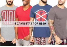 Oferta Dafiti compre 4 camisetas masculinas por apenas 99 reais. São mais de mil modelos desponíveis. Confira!  http://desconto.gratis/cupom/4-camisetas-masculinas-por-99-dafiti/  #desconto #dafiti #camisetas #modamasculina #descontos