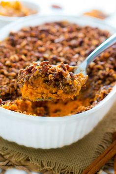 Would it even be Thanksgiving without sweet potatoes? Most people would say no! If you're one of them, check out @NeliHoward's Sweet Potato Casserole with Pecan Topping recipe.