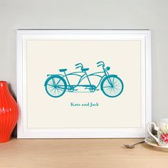 I like the bike as a silhouette and in the teal blue.