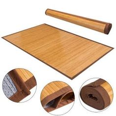 X Bamboo Area Rug Floor Carpet Natural Bamboo Wood Indoor Outdoor New Rug Over Carpet, Carpet Stairs, Bamboo Rug, Bamboo Construction, Bamboo Bathroom, Natural Flooring, Carpet Runner, Floor Rugs, Design Elements