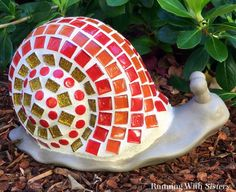 Charming Snail with Colorful Tiles