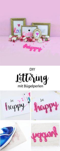 DIY Deko: Lettering Schriftzüge aus Bügelperlen gestalten How to: Lettering with hama pearls diy Geschenke, diy Geschenkidee, Bügelbilder, Handlettering,