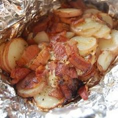Bacon Ranch Foil Packet Potatoes