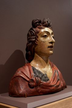 Bust of St. John the Baptist about 1480 Benedetto da Maiano, Italian (Florence), 1442-1497  Painted terracotta, height 45.1 cm