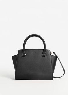 Pebbled tote bag | MANGO