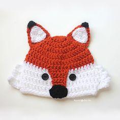 Cute Fox Hat Crochet Pattern (FREE) - http://pinterest.com/Allcrochet