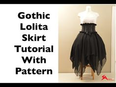 Asymmetrical Gothic Lolita Chiffon Skirt Sewing Tutorial with Pattern