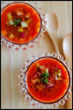 野菜ジュースで簡単ガスパチョ&キャロットラペサンド