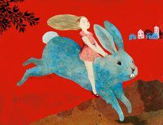 someforeignletters: Claire Degans: Le Lapin Bleu