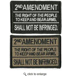 2nd Amendment Tactical Patch - Gadsden and Culpepper