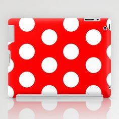 POLKA DOTTED-RED iPad Case by The Griffin Passant - $60.00