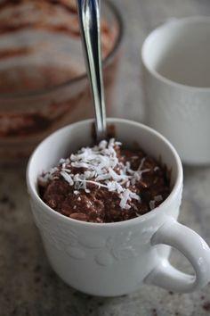 Overnight oatmeal recipe: chocolate oatmeal