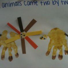 Noah's Ark handprint craft