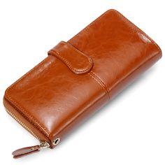 Hot europäischen große echtem rindsleder frauen geldbörsen mode lange weibliche frau brieftasche damen geldbörsen geldbörse für iphone galaxy