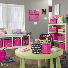 Keep your activity room clean! Easy storage for toys, art supplies and more!