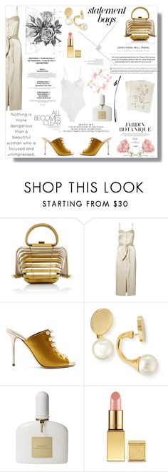 """""""Arm Candy: Statement Bags"""" by nina-lala ❤ liked on Polyvore featuring Nanushka, Malone Souliers, Chloé, Boudicca, Tom Ford, AERIN, L'Agent By Agent Provocateur and statementbags"""