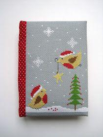 блокнот ручной работы вышивка крестиком cross stitch hand made notebook Helga Mandl Our Christmas Tree