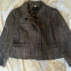 Petite wool jacket** Features a button front, and slightly rounded collar. Finished with pockets,dry clean. Banana Republic Jackets & Coats Jean Jackets
