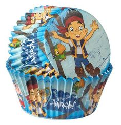 Make sure your pirate crew has some sweet rewards with these Disney Jake and the Never Land Pirates Baking Cups! Includes 50 paper baking cups. Cupcakes are not included.Includes (50) Disney Jake and