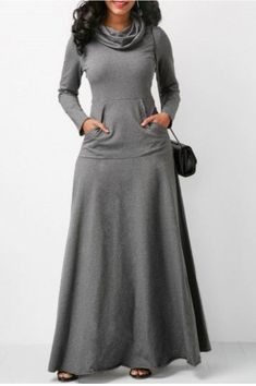 #Maxi #Dress #Long #Grey