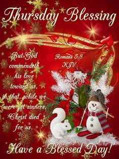 Thursday Blessings! Christmas Wreaths, Merry Christmas, Christmas Ornaments, Prayer Message, Romans 5 8, Because He Lives, Angel Prayers, Biblical Womanhood, Uplifting Messages